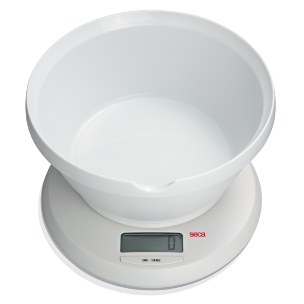 Seca 852 Digital Diet and Kitchen Scale with Universal Bowl